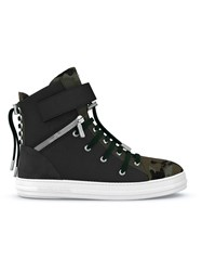 Swear Regent Hi Top Sneakers Calf Leather Nappa Leather Suede Rubber Black