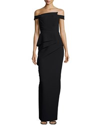 Black Halo La Reina Off The Shoulder Gown Women's Black