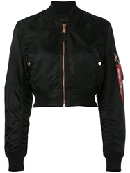 Alpha Industries Cropped Bomber Jacket Black