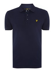 Lyle And Scott Short Sleeve Plain Pique Polo Navy