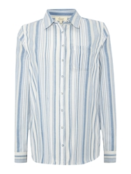 Linea Willow Stripe Shirt Blue
