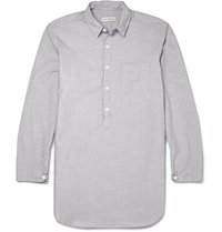Oliver Spencer Loungewear Striped Cotton Shirt Gray