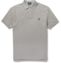 Polo Ralph Lauren Slim Fit Cotton Pique Polo Shirt Gray