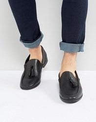 Frank Wright Tassel Loafers In Black Leather Black