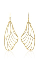 Annette Ferdinandsen 18K Gold Butterfly Wing Earrings