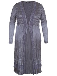 Chesca Lace Crush Pleat Coat Steel