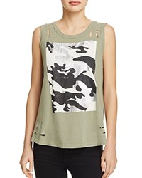 Sundry Camo Cross Back Tank Army