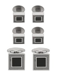Tateossian Square Cufflinks Silver