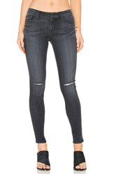 Black Orchid Jude Mid Rise Super Skinny Carbon