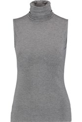 Bailey 44 Tippi Stretch Jersey Turtleneck Top Gray