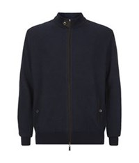 Peter Millar Merino Blend Zip Sweater Navy