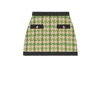 Gucci Houndstooth Mini Skirt Green