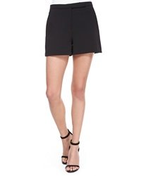 Halston Heritage Structured Crepe Shorts Black