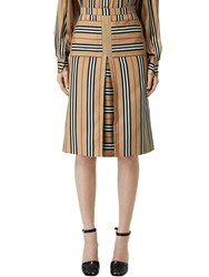 Burberry Check Print Techno Twill Skirt Archive Beige