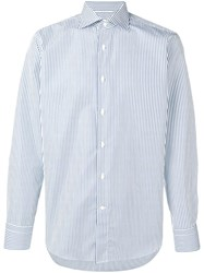 Canali Striped Shirt Blue
