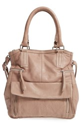 Day And Mood 'Hannah' Leather Satchel Grey