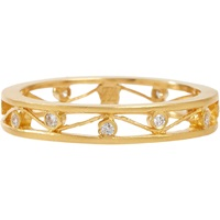 Diamond And Gold Open Cherry Band