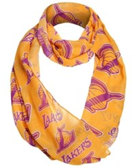 Forever Collectibles Los Angeles Lakers All Over Logo Infinity Wrap Scarf Purple