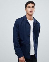 Selected Homme Cotton Twill Jacket Night Sky Navy