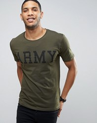 Only And Sons Army 51 T Shirt Forest Night Green