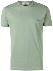 Vivienne Westwood Embroidered Logo T Shirt Green