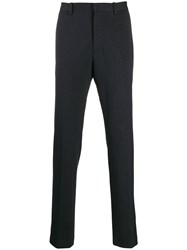 Theory Pinstripe Straight Trousers Blue