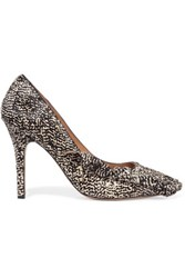 Etoile Isabel Marant Escarpins Poppy Printed Calf Hair Pumps Black