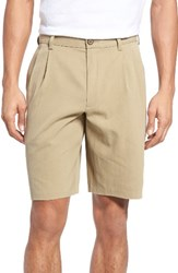 Tommy Bahama Men's Big And Tall 'St. Thomas' Pleated Shorts Sisal