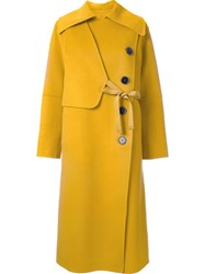 Le Ciel Bleu 'Handsome Wrap' Trench Coat Yellow And Orange