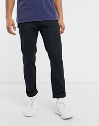 Tommy Hilfiger Tapered Tech Stretch Twill Flex Trousers In Black