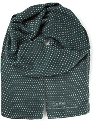 Fe Fe Fefe Polka Dot Patterned Tubular Scarf Green