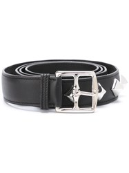 Hermes Vintage Pyramid Studded Belt Black