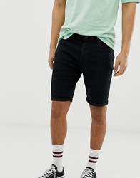 Only And Sons Denim Shorts Black