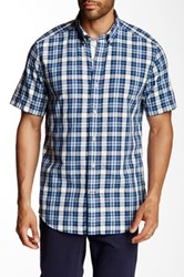 Nautica Short Sleeve Plaid Shirt Blue