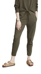 James Perse Fleece Pull On Sweatpants Army Green
