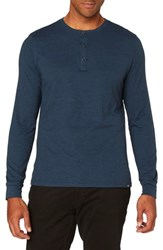 Threads For Thought Men's Henley Midnight