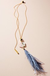 Nocturne Shun Feather Pendant Necklace Gold