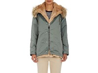 Tomorrowland Women's Faux Fur Trimmed Parka Green