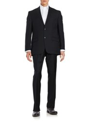 Michael Kors Two Button Wool Suit Black