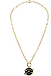Foundrae Crossed Arrows 18 Karat Gold