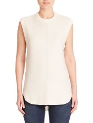 Michael Michael Kors Sleeveless Cashmere Sweater Cream