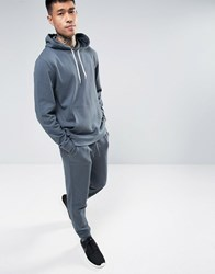 Asos Tracksuit Set Skinny Jogger Hoodie In Washed Blue Save Washed Airforce Multi