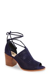 Vince Camuto Women's Lindel Open Toe Bootie Blue Note Suede
