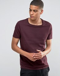 Asos T Shirt With Square Neck In Oxblood Oxblood Red