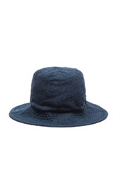 Attachment Linen Hat In Blue