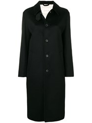 Mackintosh 0001 Single Breasted Coat Black