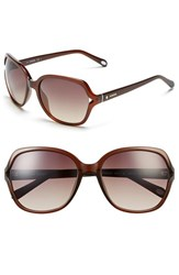 Women's Fossil 'Jesse' 58Mm Oversize Sunglasses Transparent Brown