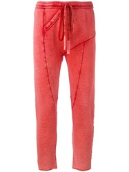 Lost And Found Ria Dunn Drawstring Track Pants Red