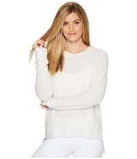 Alo Yoga Glimpse Long Sleeve Top White Heather Women's Clothing