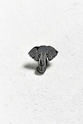 Urban Outfitters Elephant Pin Grey